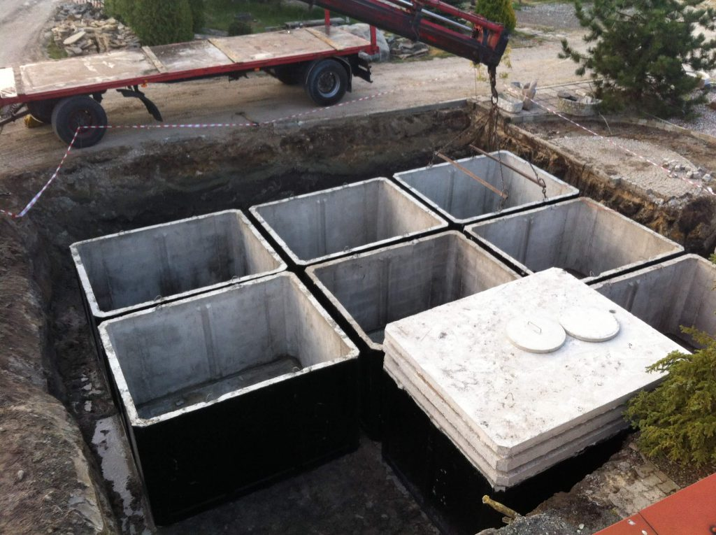 Szamba betonowe Konradobet, tanie szamba betonowe, zbiorniki betonowe na szambo