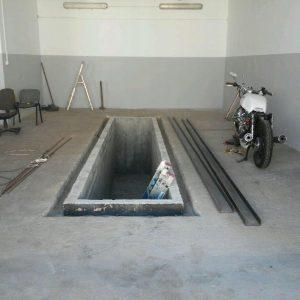 Kanał samochodowy<br> 6m x 1,24m x 1,70h<br> (ścianka grubosc 12cm)